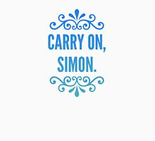 Carry On, Simon. Womens Fitted T-Shirt