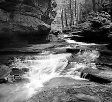 Spring run-off in hocking hills by woodnimages