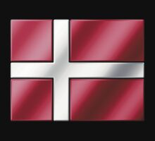 Danish Flag - Denmark - Metallic by graphix