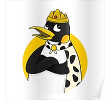 Cute emperor penguin cartoon Poster