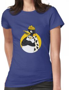 Cute emperor penguin cartoon Womens Fitted T-Shirt