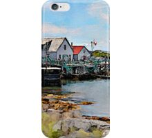 Indian Harbour watercolour iPhone Case/Skin