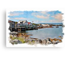 Indian Harbour watercolour Canvas Print