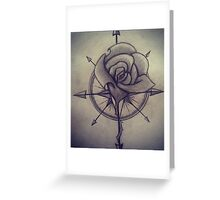 compass rose Greeting Card