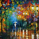 LATE STROLL - LEONID AFREMOV by Leonid  Afremov