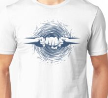 atomic fist bump blue Unisex T-Shirt