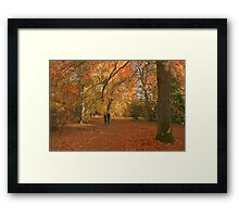 Walking with giants! Framed Print