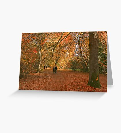 Walking with giants! Greeting Card