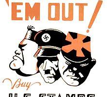 Stamp Em Out US Stamps Bonds Vintage WW2 War Advert by ukedward