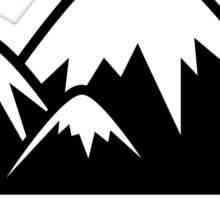 Going Nowhere Fast Mountains Sticker