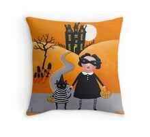 The Trick or Treaters Throw Pillow