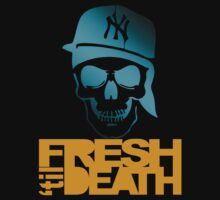 Fresh 'til Death Skulls (LIGHT BLUE) by Faded Fabrics