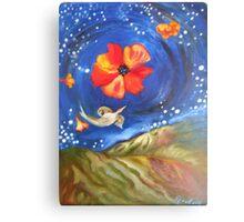 Heron-Otter on Wind, Night Sky Pfeiffer Beach Canvas Print