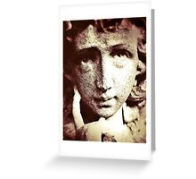 Stone Statue Greeting Card