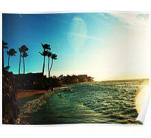 ocean splashes Poster