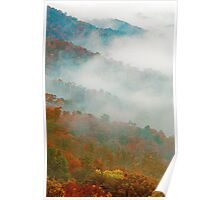 AUTUMN MIST,SUGARLANDS VALLEY Poster