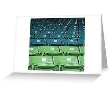 Wrigley Field Seats Greeting Card