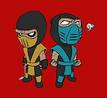 Scorpion & Sub-Zero by spyrome876
