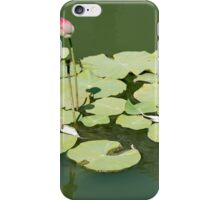 Lotus in the water iPhone Case/Skin