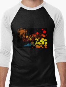 Graffiti with paint splatters Men's Baseball ¾ T-Shirt