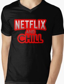 Netflix And Chill Mens V-Neck T-Shirt