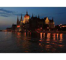 Hungarian Parliament Building at night #2 Photographic Print
