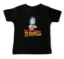 Back to the Future Rick and Morty Baby Tee