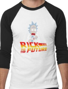 Back to the Future Rick and Morty Men's Baseball ¾ T-Shirt