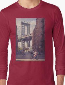 Bike Ride in Dumbo Long Sleeve T-Shirt