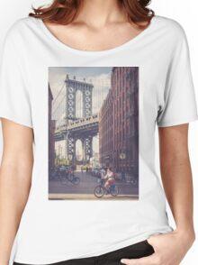 Bike Ride in Dumbo Women's Relaxed Fit T-Shirt