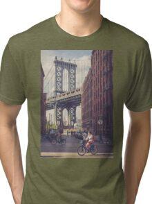 Bike Ride in Dumbo Tri-blend T-Shirt
