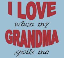 I Love When My Grandma Spoils Me Kids Tee