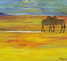 First light in the Kalahari by Maree Clarkson