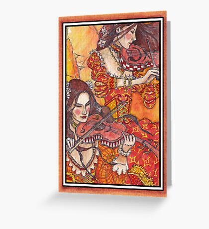 Vora and Zelly Fairy Card Greeting Card