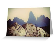Shadow Mountains Greeting Card