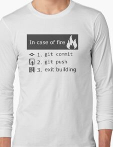 Git on fire Long Sleeve T-Shirt