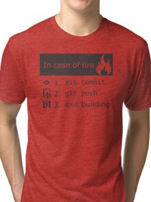 Git on fire Tri-blend T-Shirt