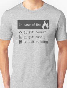 Git on fire Unisex T-Shirt