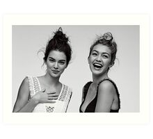 Kendall Jenner and Gigi Hadid #adorable  Art Print