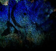 Digital Abstract in blue by vigor