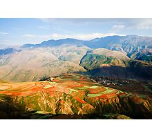 The Red Earth of Luoxiagou Photographic Print