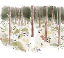 A Day in the Woods by LittleCloudShop