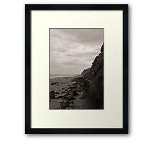 Garie Beach Monochrome Framed Print