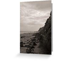 Garie Beach Monochrome Greeting Card