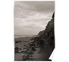 Garie Beach Monochrome Poster