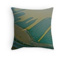 Oak St. Beach Shadows Throw Pillow