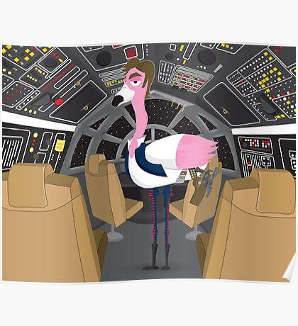 Flamingo Han Poster