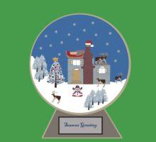 Winter Wonderland in a Christmas Snow Globe Baby Tee
