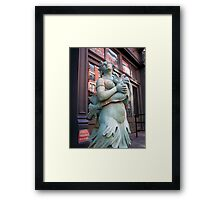 Mermaid in Manhattan Framed Print