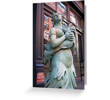 Mermaid in Manhattan Greeting Card